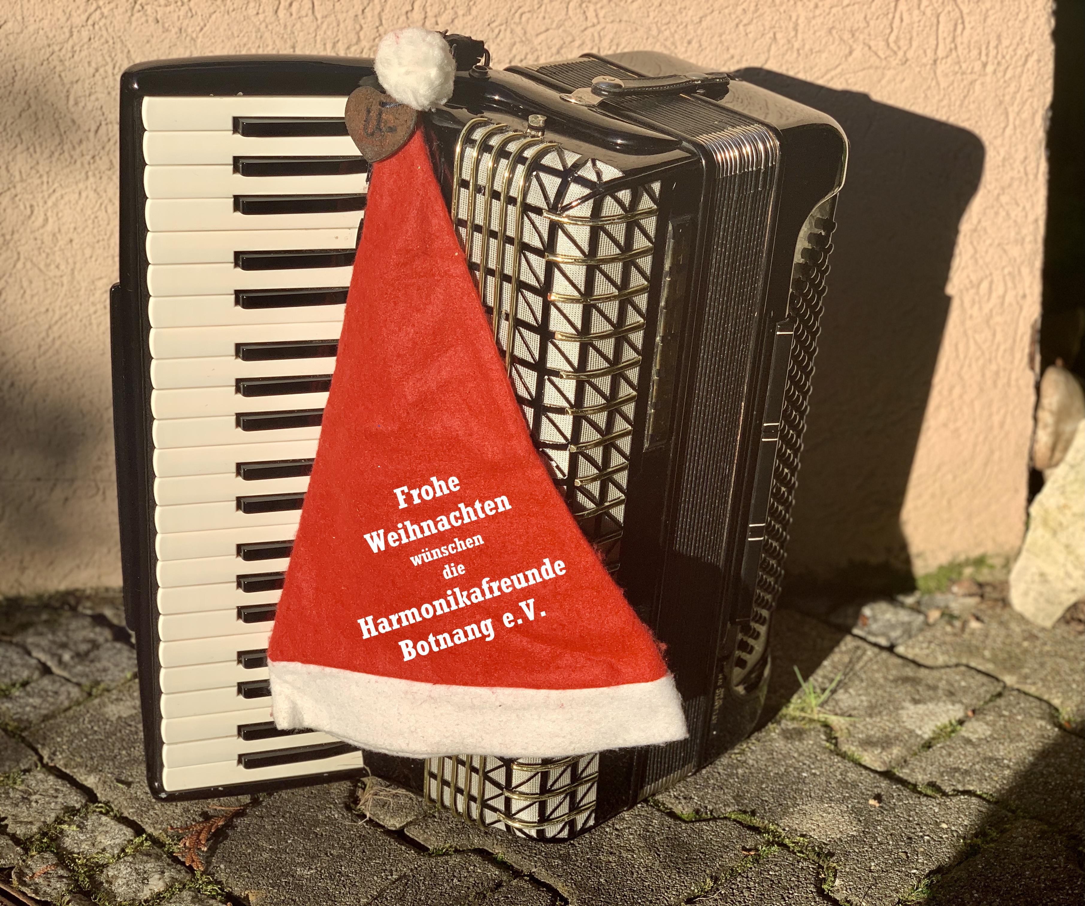 Die Harmonikafreunde Botnang wünschen eine frohe Weihnachtszeit